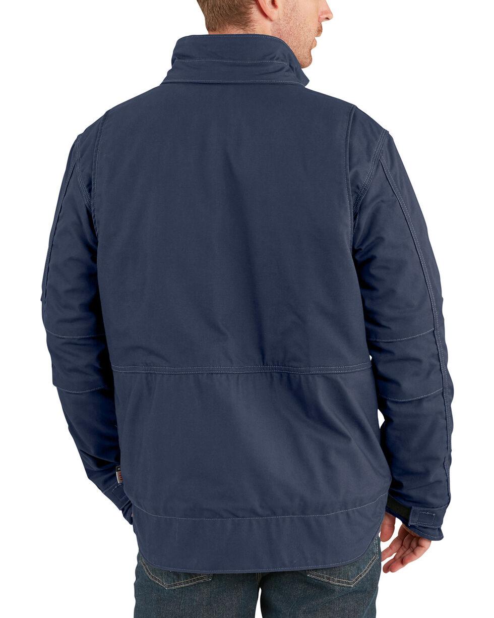 Carhartt Men's Flame-Resistant Full Swing Quick Duck Coat , Navy, hi-res