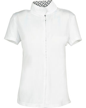 Dublin Women's Coolmax Short Sleeve Show Shirt, Paisley, hi-res