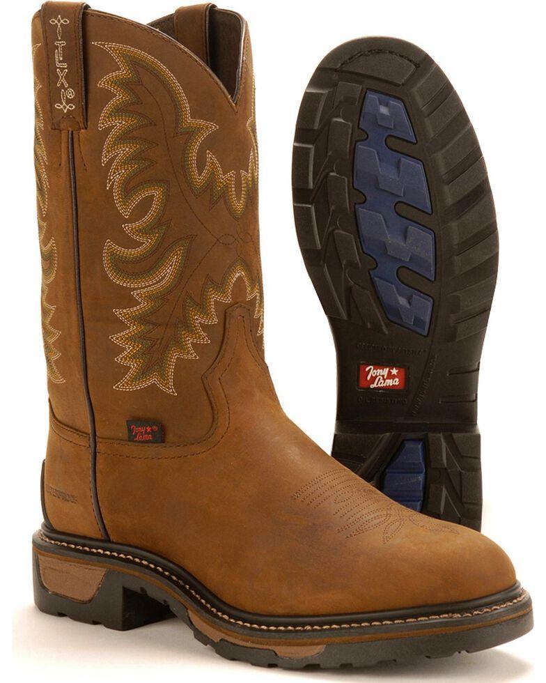 Tony Lama TLX  Waterproof Work Boots, Tan, hi-res
