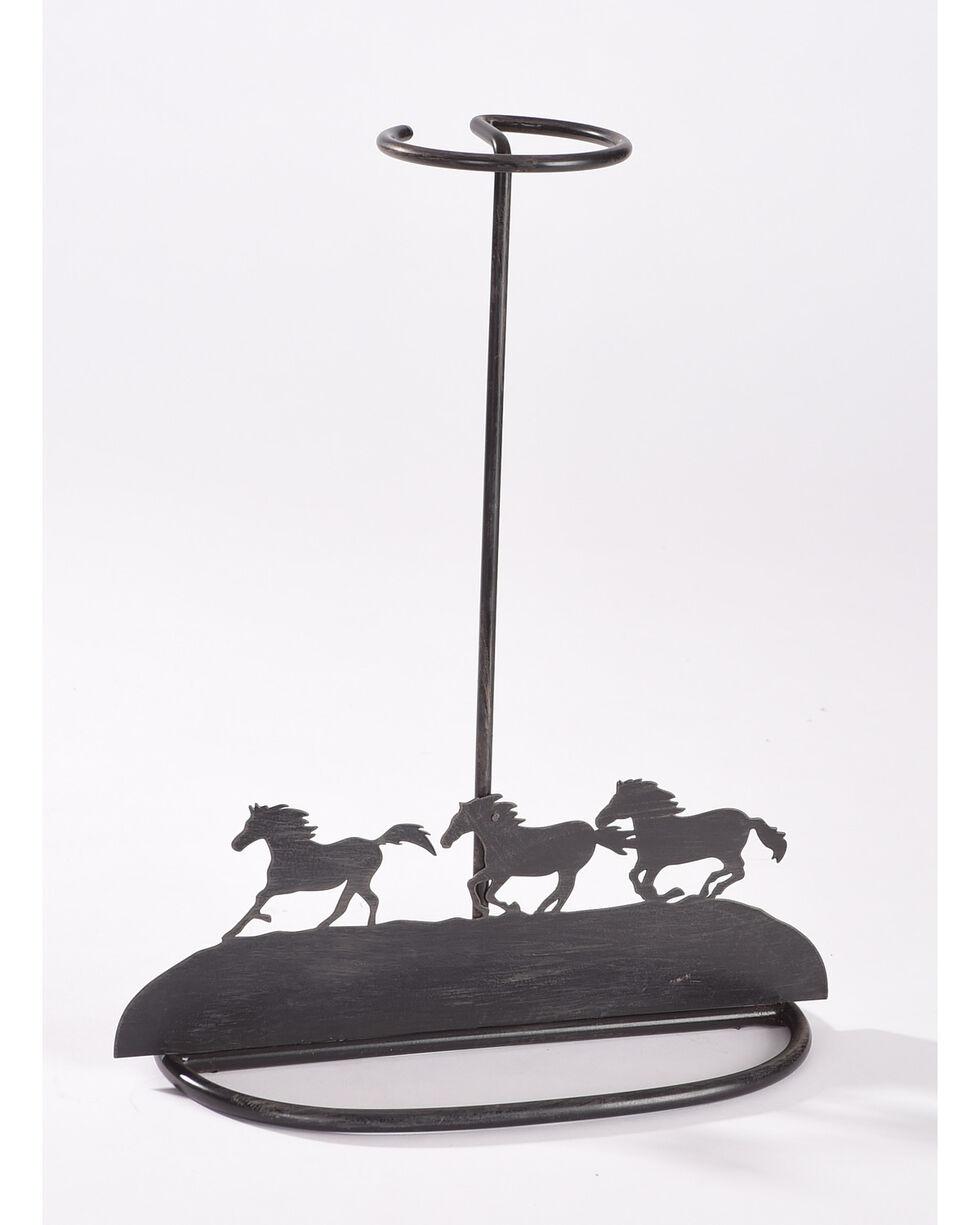 BB Ranch Running Horse Tabletop Hat Holder, Brown, hi-res