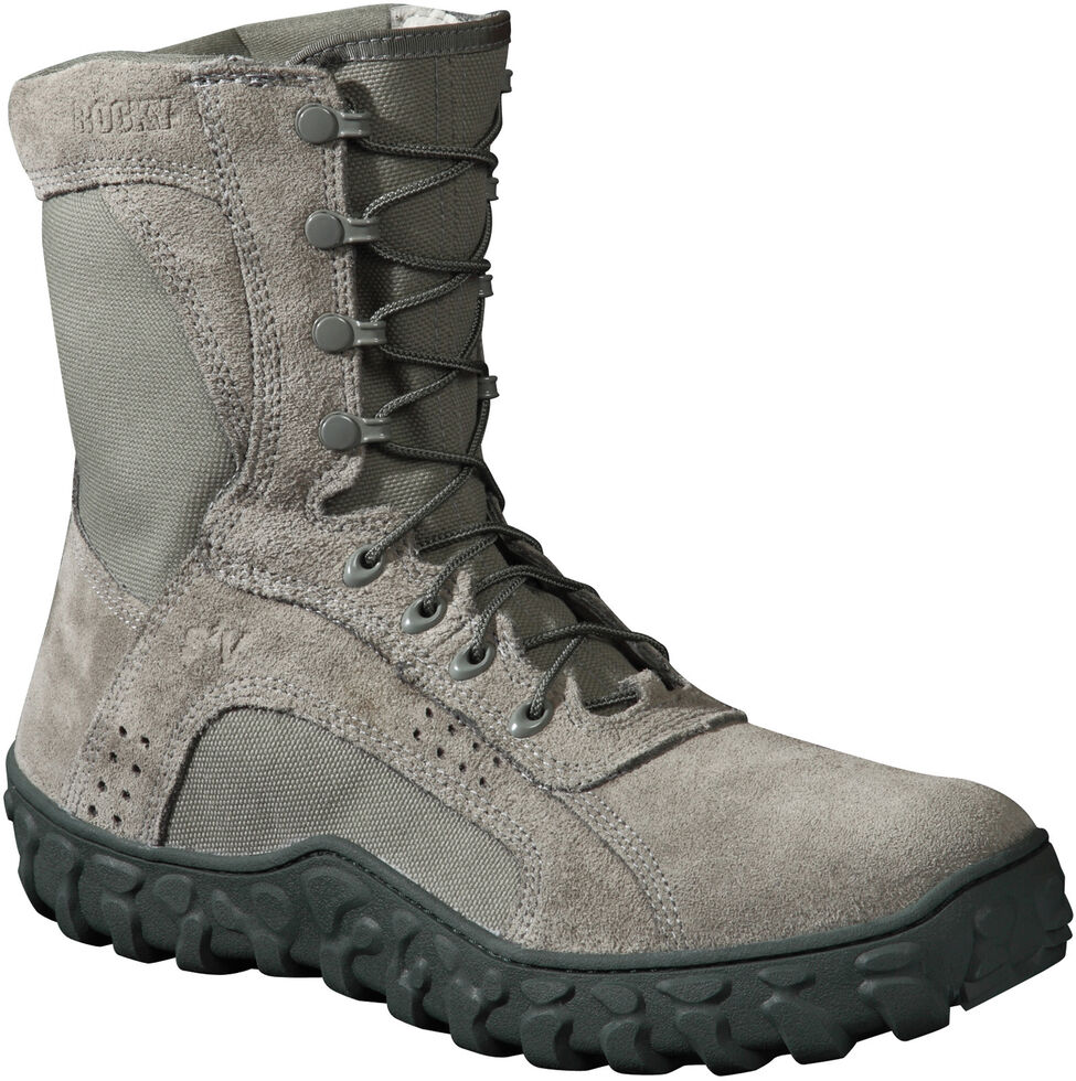 Rocky S2V Tactical Military Boots - Steel Toe, Grey, hi-res