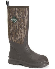 Muck Boots Men's Chore Camo Rubber Boots - Round Toe, Brown, hi-res