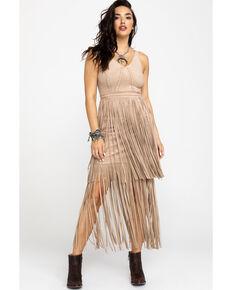b76ff2522 Idyllwind Womens Wild Nights Stone Fringe Dress , Stone, hi-res