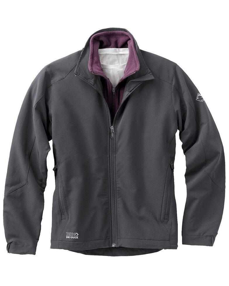 Dri Duck Women's Precision Softshell Jacket, Dark Grey, hi-res