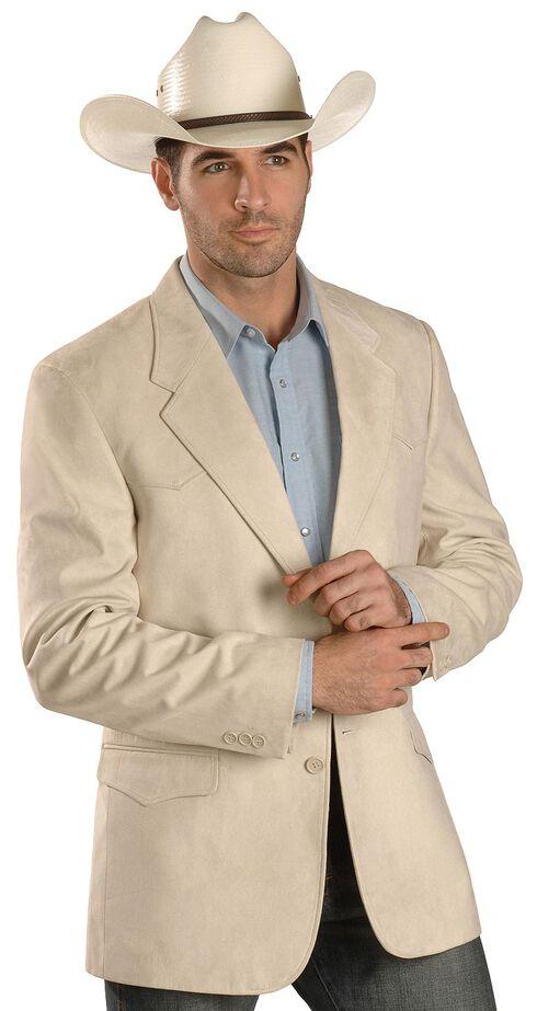 Domini Men's Microsuede Western Jacket , Tan, hi-res