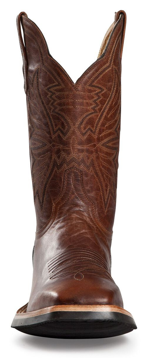 Cinch Classic Goatskin Cowboy Boots - Square Toe, Brown, hi-res