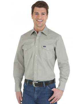 Wrangler Advanced Comfort Work Shirt, Cement, hi-res
