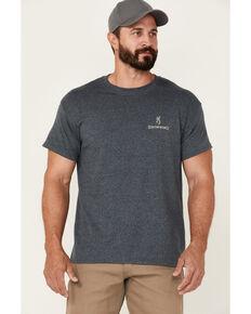 Browning Men's Charcoal Hunt Tough Flag Graphic Short Sleeve T-Shirt , Charcoal, hi-res