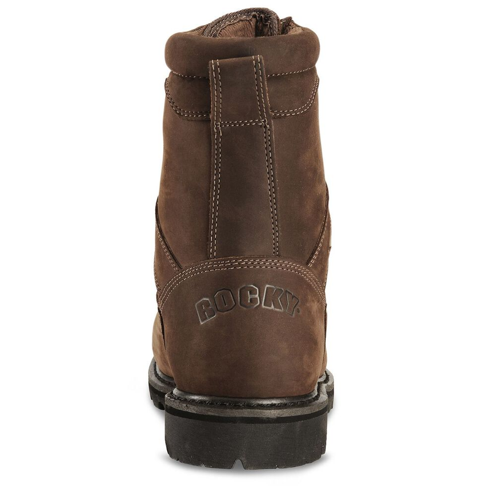 """Rocky 8"""" Ranger Insulated Gore-Tex Work Boots - Steel Toe, Brown, hi-res"""