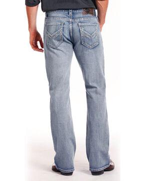 Rock & Roll Cowboy Men's Indigo ReFlex Double Barrel Jeans - Boot Cut , Indigo, hi-res