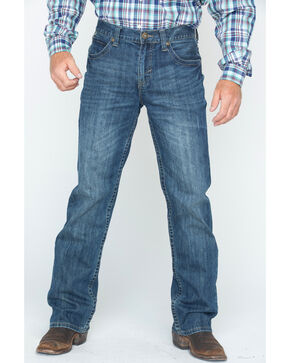 Cody James Men's Dark Wash Slim Boot Cut Jeans , Blue, hi-res