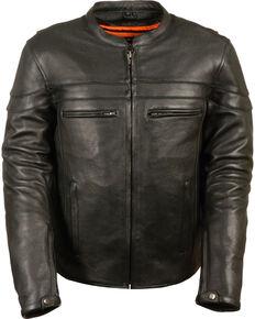 Milwaukee Leather Men's Black Sporty Scooter Crossover Jacket, Black, hi-res