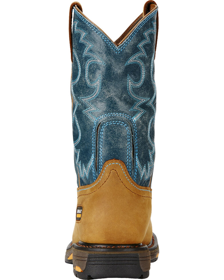Ariat Women's Blue Workhog H2O Cowgirl Work Boots - Round Toe  , Aged Bark, hi-res