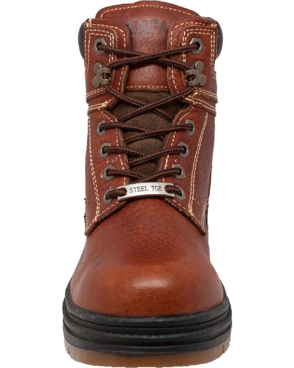 "Ad Tec Men's 6"" Dark Brown Waterproof Work Boots - Steel Toe, Dark Brown, hi-res"