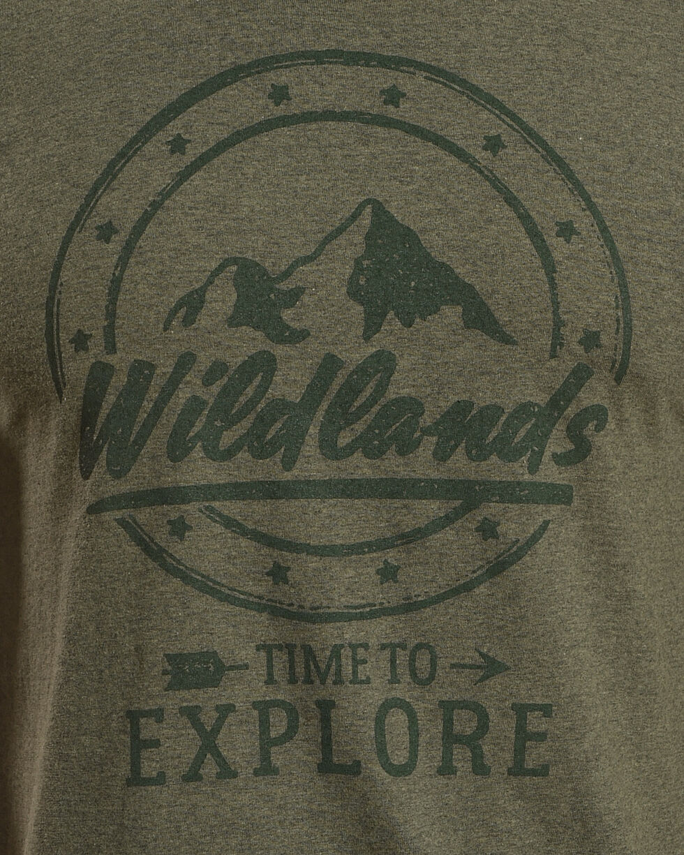 Cody James Men's Wildlands Short Sleeve T-Shirt, Green, hi-res
