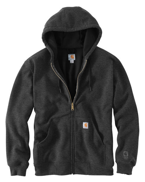 Carhartt Rain Defender Rutland Thermal-Lined Hooded Zip-Front Jacket, Charcoal, hi-res