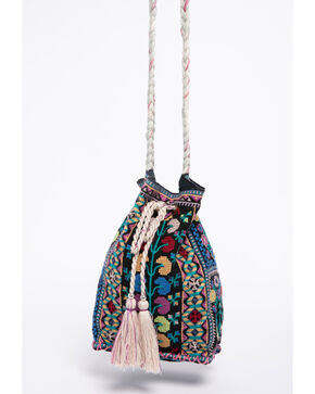 Johnny Was Women's Clover Bucket Bag, Black, hi-res
