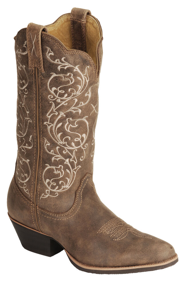 Twisted X Women's Fancy Stitched Cowgirl Boots - Medium Toe, Bomber, hi-res