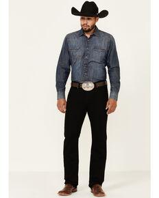 Moonshine Spirit Men's Dark Knight Black Stretch Slim Straight Jeans , Blue, hi-res