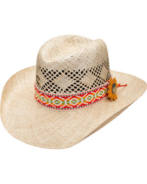 Charlie 1 Horse Women's Heart Breaker Straw Hat , Natural, hi-res