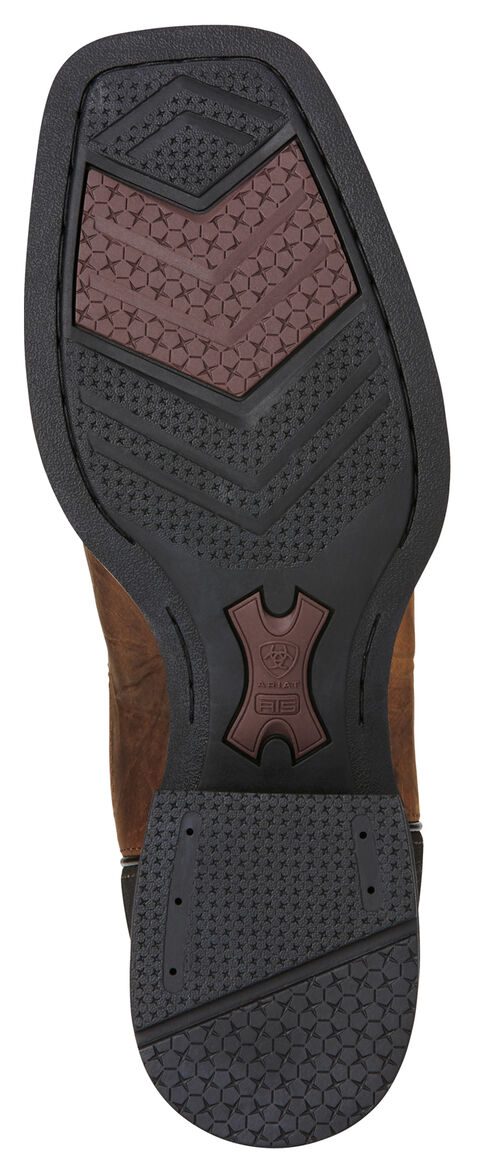 Ariat Bar Top Brown Heritage Cowhorse Performance Cowboy Boots - Square Toe , Brown, hi-res