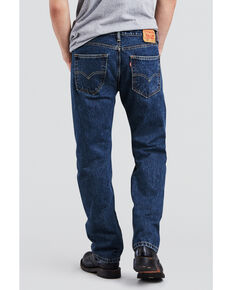 Levis Men's 505 Dark Stonewash Straight Fit Jeans , Blue, hi-res