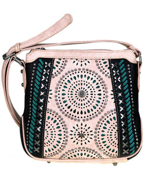 Montana West Women's Cut-Out Pattern Concealed Carry Crossbody Purse , Black, hi-res