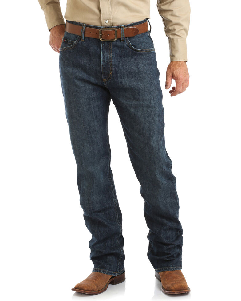 Wrangler 20X Men's Thundercloud Competition Stretch Relaxed Bootcut Jeans  , Blue, hi-res
