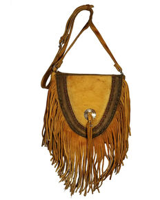 Kobler Leather Women's Supai Concho Crossbody Bag, Ivory, hi-res