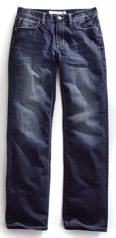 Tin Haul Men's Regular Joe Straight Leg Contrast Stitch Jeans, Denim, hi-res