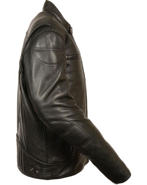 Milwaukee Leather Men's Black Longer Body Vented Jacket - Big 3X, Black, hi-res