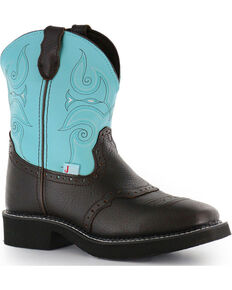 Justin Gypsy Women's Brown Leather Cowgirl Boots - Square Toe, Brown, hi-res