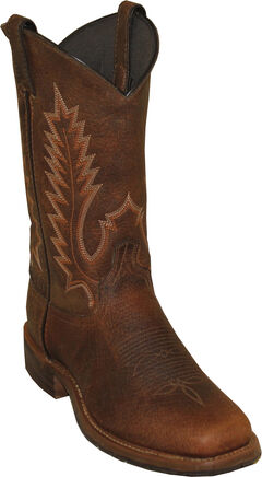Abilene Boots Men's Pioneer Western Boots - Square Toe, Brown, hi-res