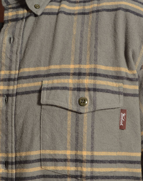Woolrich Tiadaghton Field Grey Plaid Shirt, Grey, hi-res