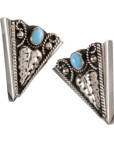 Western Stone Collar Tips, Turquoise, hi-res