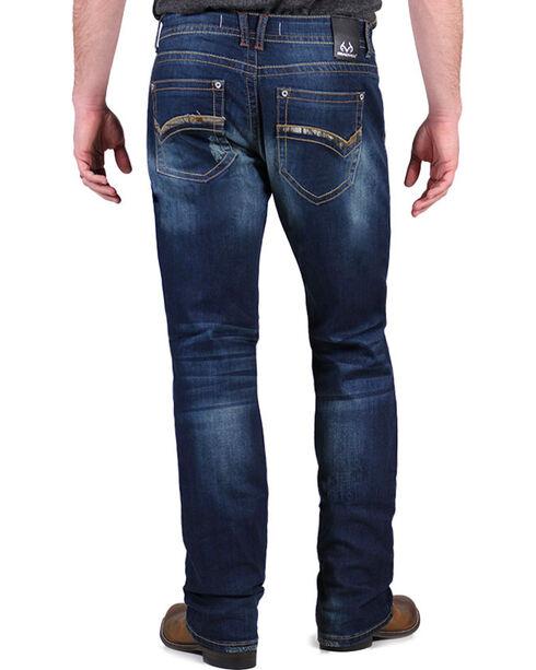 Realtree Men's Camo Dark Wash Jeans - Boot Cut, Blue, hi-res