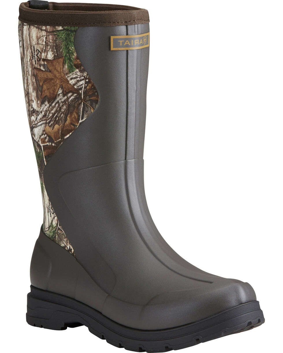 Ariat Women's Camo Springfield Rubber Boots - Round Toe, Olive, hi-res