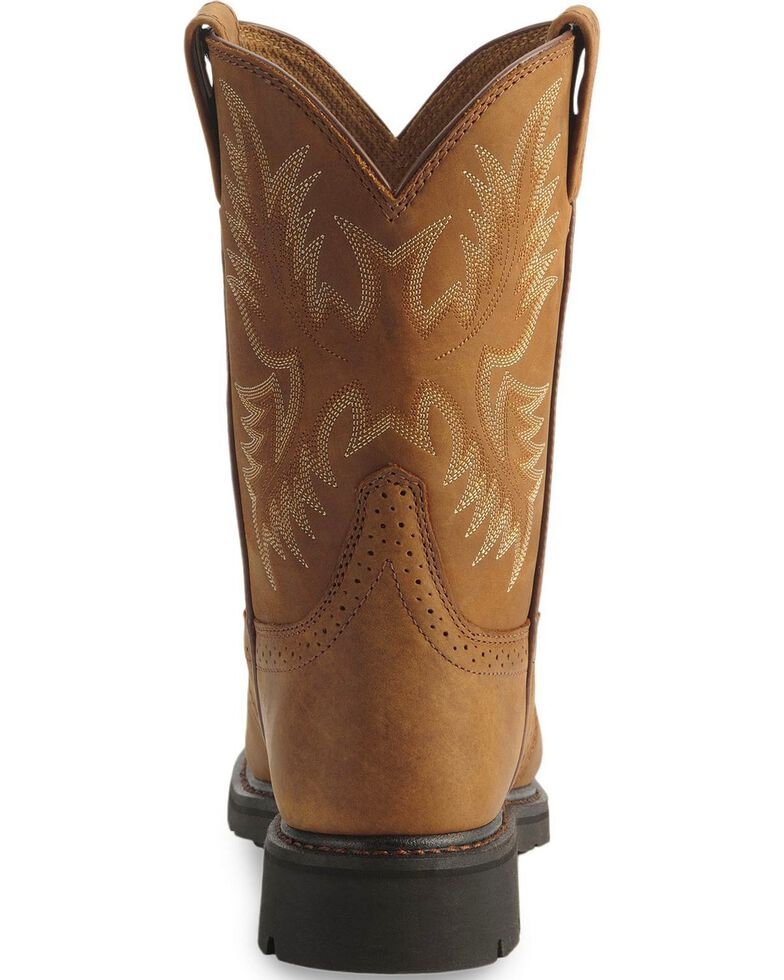 Ariat Sierra Cowboy Work Boots - Steel Toe, Aged Bark, hi-res