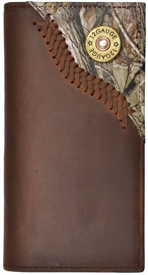 Justin Camo Overlay & Shotgun Shell Concho Rodeo Wallet, Camouflage, hi-res