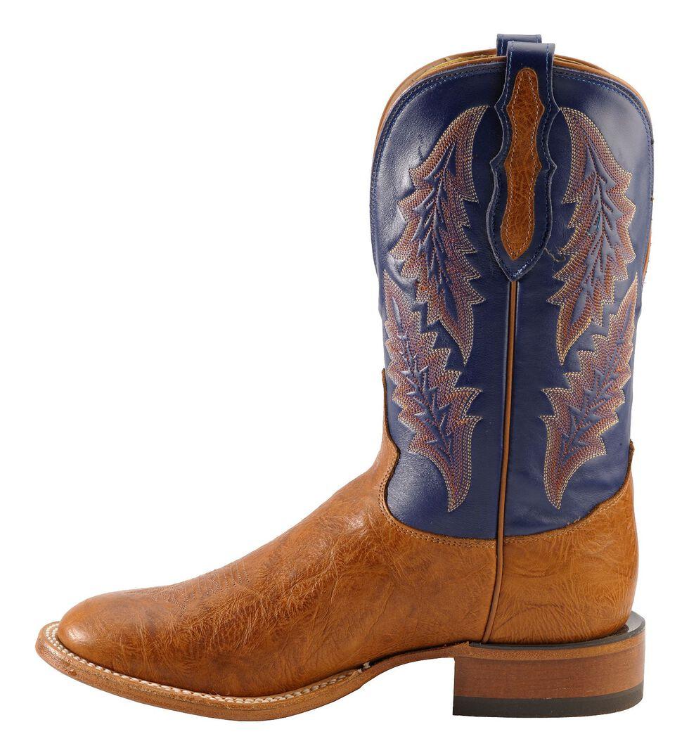 Tony Lama San Saba Royal Blue Cowboy Boots - Round Toe, , hi-res