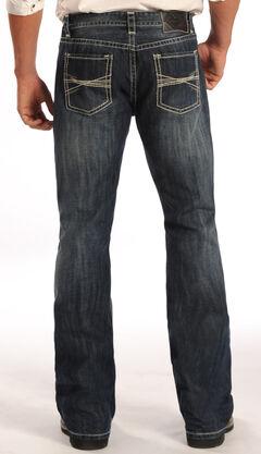 Rock and Roll Cowboy Pistol Dark Wash Jeans - Boot Cut  , Denim, hi-res