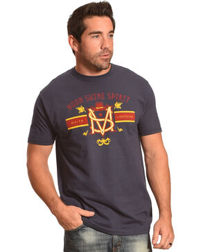 Moonshine Spirit Men's White Lightning Short Sleeve T-Shirt, Navy, hi-res