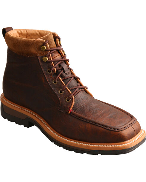 Twisted X Men's Lite Work Lacer Waterproof Work Boots - Alloy Toe, Dark Brown, hi-res