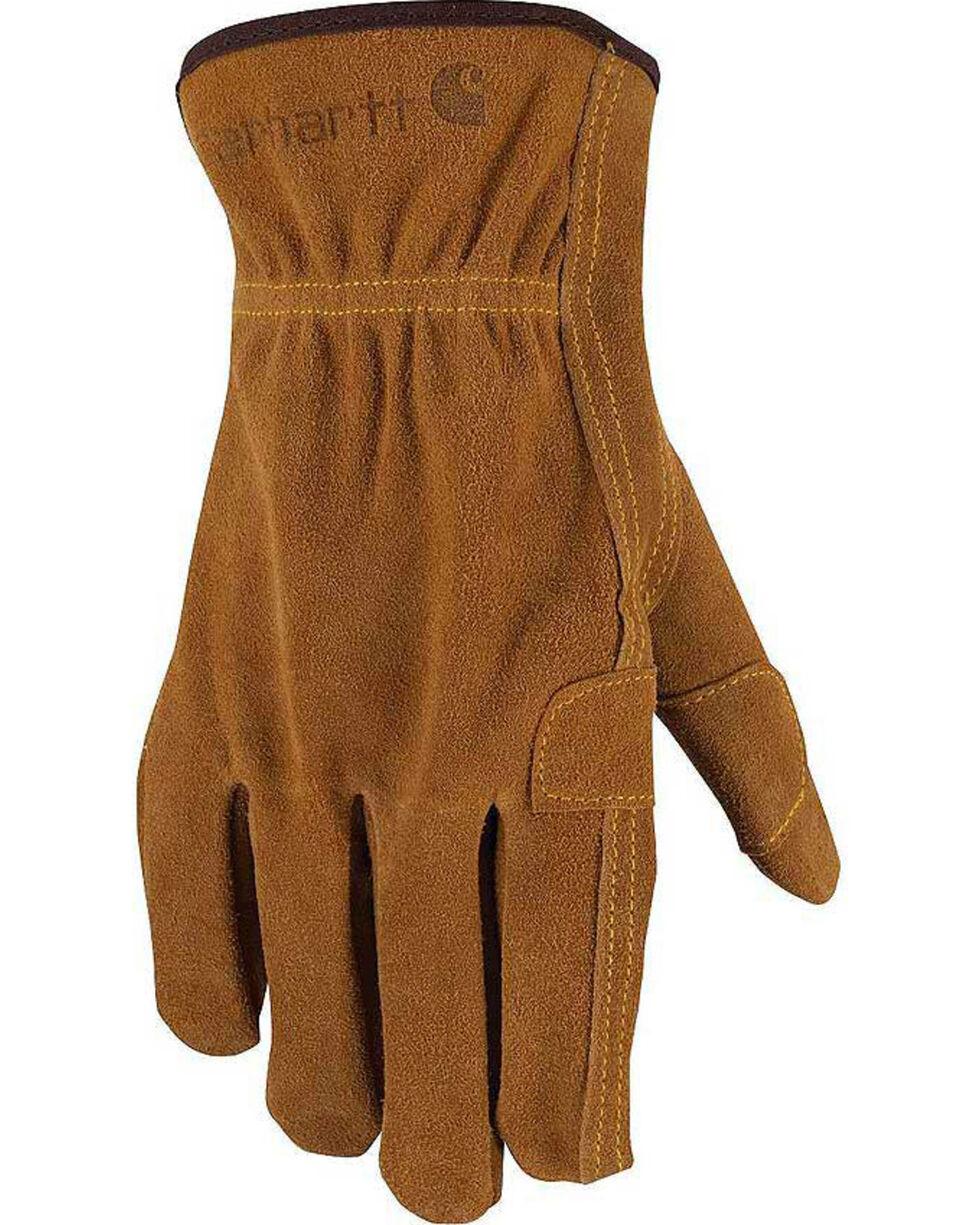 Carhartt Men's Suede Fencer Work Gloves , Brown, hi-res