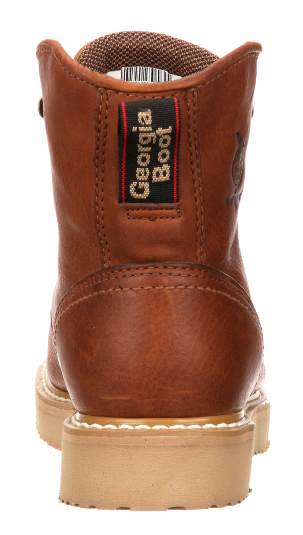 "Georgia Men's 6"" Barracuda Gold Wedge Work Boots, Gold, hi-res"