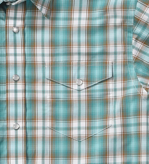 Rough Stock by Panhandle Boys' Evanston Ombre Plaid Shirt , , hi-res