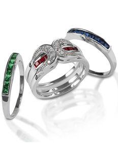 Kelly Herd Women's Interchangeable Horseshoe Ring, Silver, hi-res