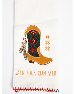 BB Ranch Southwest Boot & Feather Flour Sack Towels, Multi, hi-res