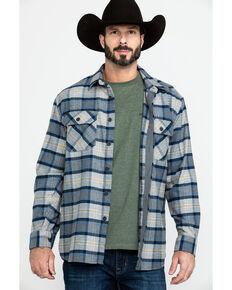 Pendleton Men's Soft Burnside Large Grey Plaid Long Sleeve Flannel Shirt , Grey, hi-res