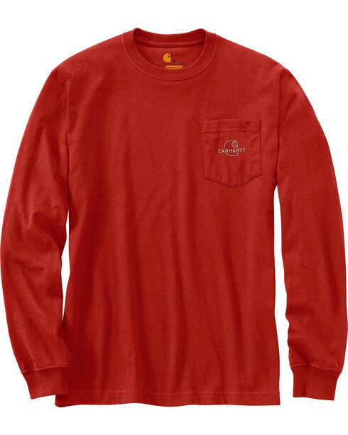 Carhartt Men's Workwear Graphic Carhartt Patch T-Shirt , Chilli, hi-res